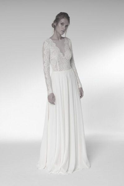 Brautkleid leicht fallender Stoff