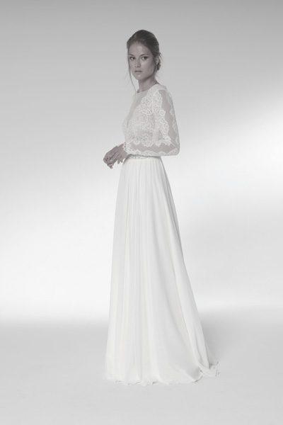 Grobe Spitze - Hochzeitskleid