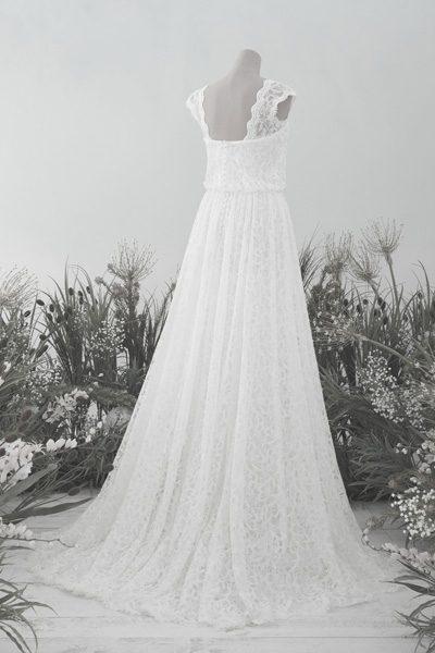 Boho-Hochzeitskleid offener Rücken