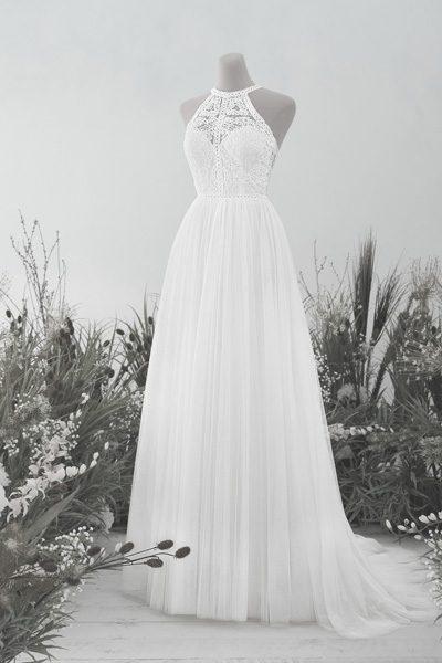 Hochzeitskleid mit Neckholder