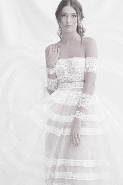 Hochzeitskleid mit Boho-Spitze
