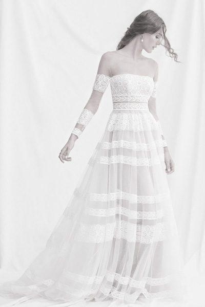Hochzeitskleid im Boho-Look