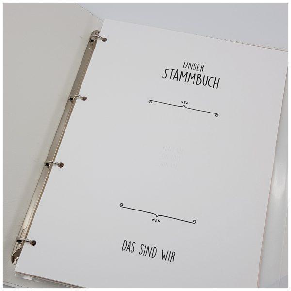 Stammbuch A4 in weiß zum individuellen Gestalten