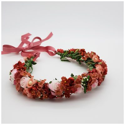 Flowercrown rot und rosa