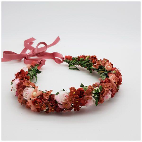 Flowercrown rot und rosa