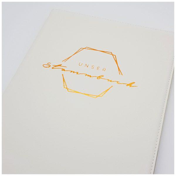 Stammbuch mit Sechseck für Boho-Hochzeit