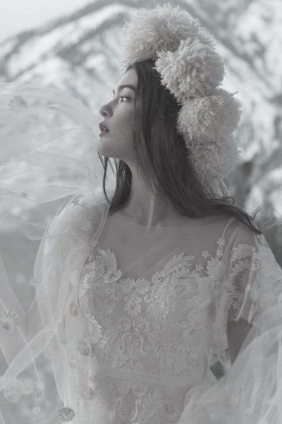 Hochzeitskleid florale Spitze